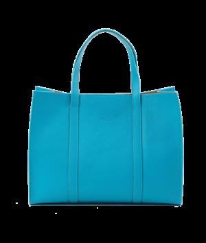 Large Zip Tote Aqua Brand new range ~ Designer Handbag Ireland by Julie Peelo