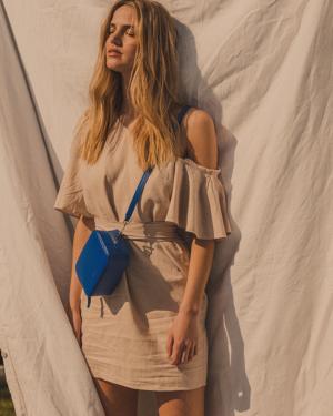Saffiano Cobalt Blue - Desiger leather handbags